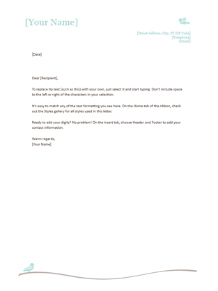 Personal Letterhead Office 365 Templates Office Templates