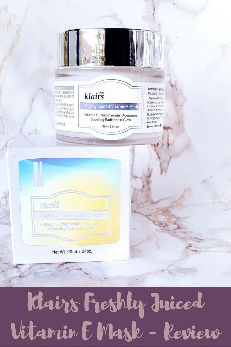 Klairs Freshly Juiced Vitamin E Mask Review Hello Glow Vitamin E Asian Skincare Vitamins