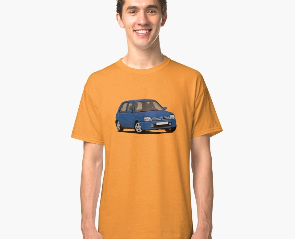 Supermini from Japan, the Nissan Micra of March from late 90's printed on T-shirts and other gifts.  #nissanmicra #nissanmarch #nissanmicrak11 #nissanmicrak11c #corneringcar #nissantshirt #micra #micrak11 #supermini #japanesecar #carillustration #bluecar #carillustration #cardrawning #youngtimers