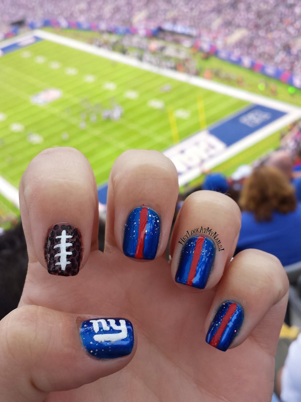 Hey, Look At My Nails!: New York Giants Nail Art   Fashion ...