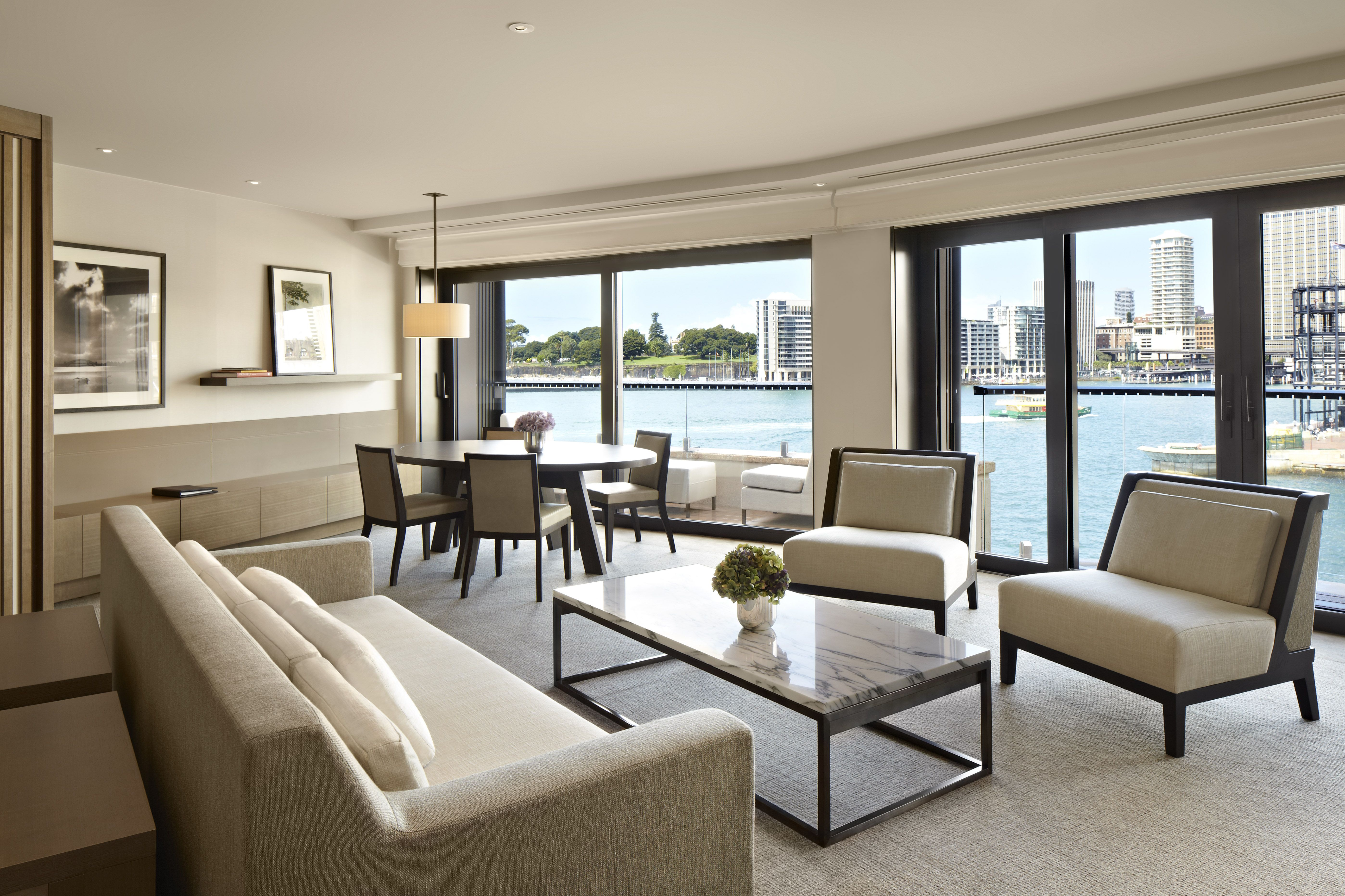 Your Lounge When Staying In The Quay Suite  Park Hyatt Sydney Delectable Park Hyatt Sydney Dining Room Decorating Design