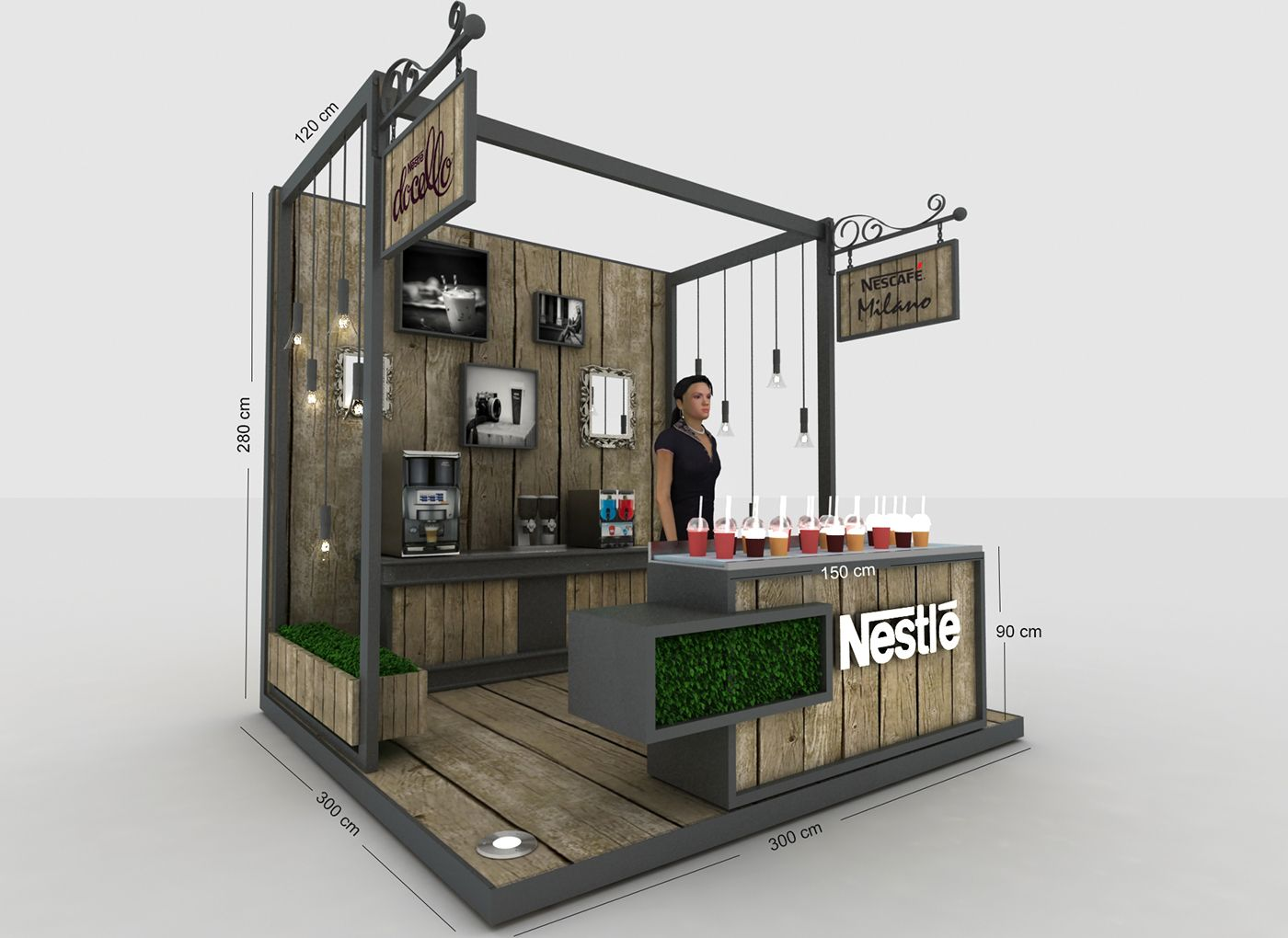 Nestle Leadership Activation Stand Stands Ferias Pinterest  # Muebles Ferreira Buga