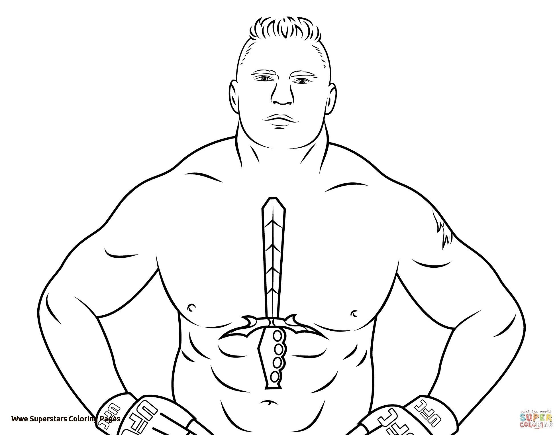 Brock Lesnar Coloring Pages Printable Wwe Coloring Pages Coloring Pages Brock Lesnar