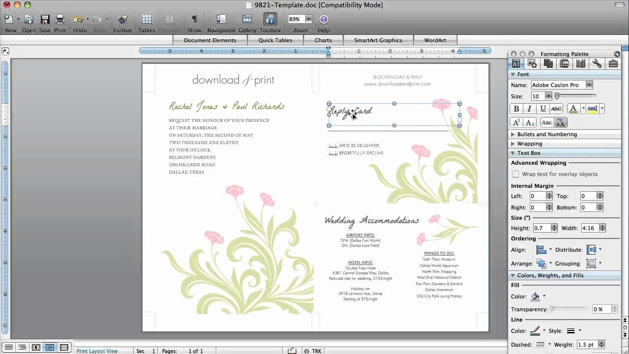 Ms Word Wedding Invitation Template Inspirational How To Make Wedding Inv Wedding Invitation Templates Modern Wedding Invitation Wording Invitation Card Format