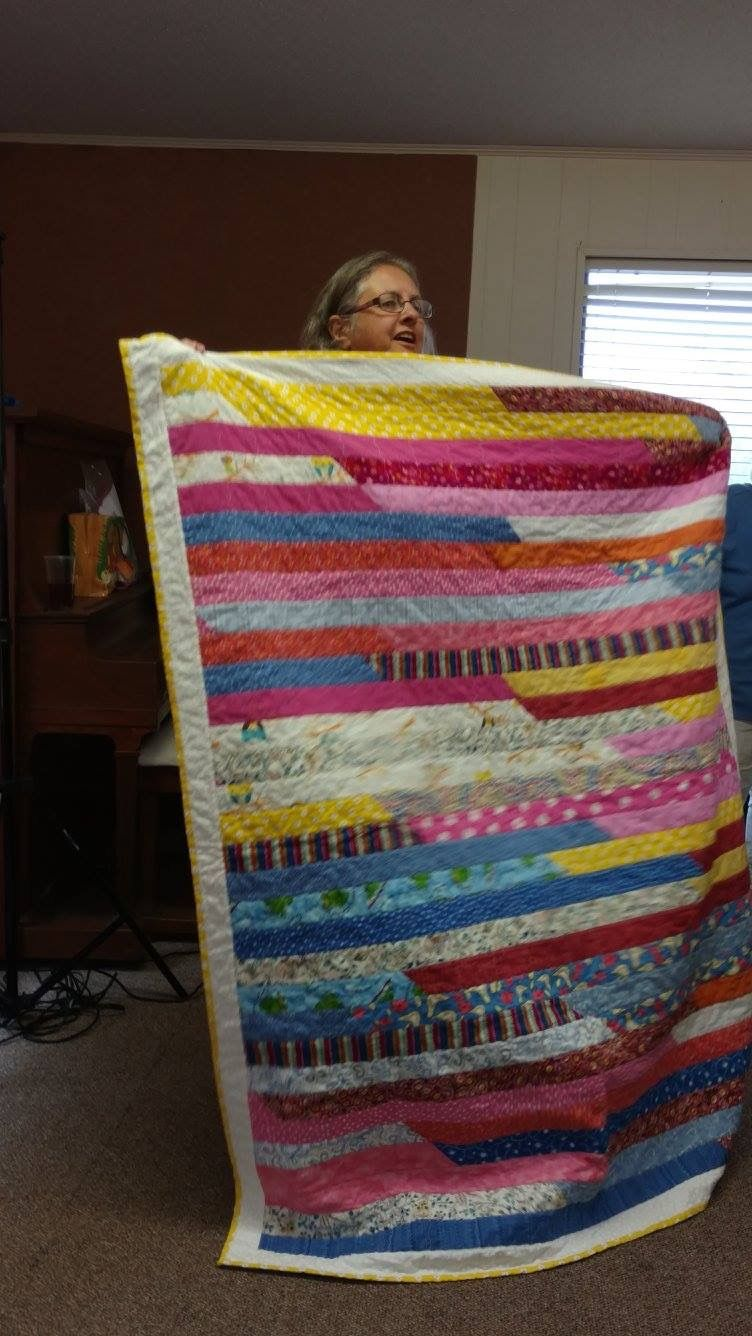 Jelly roll race for my great niece mary quilts i made
