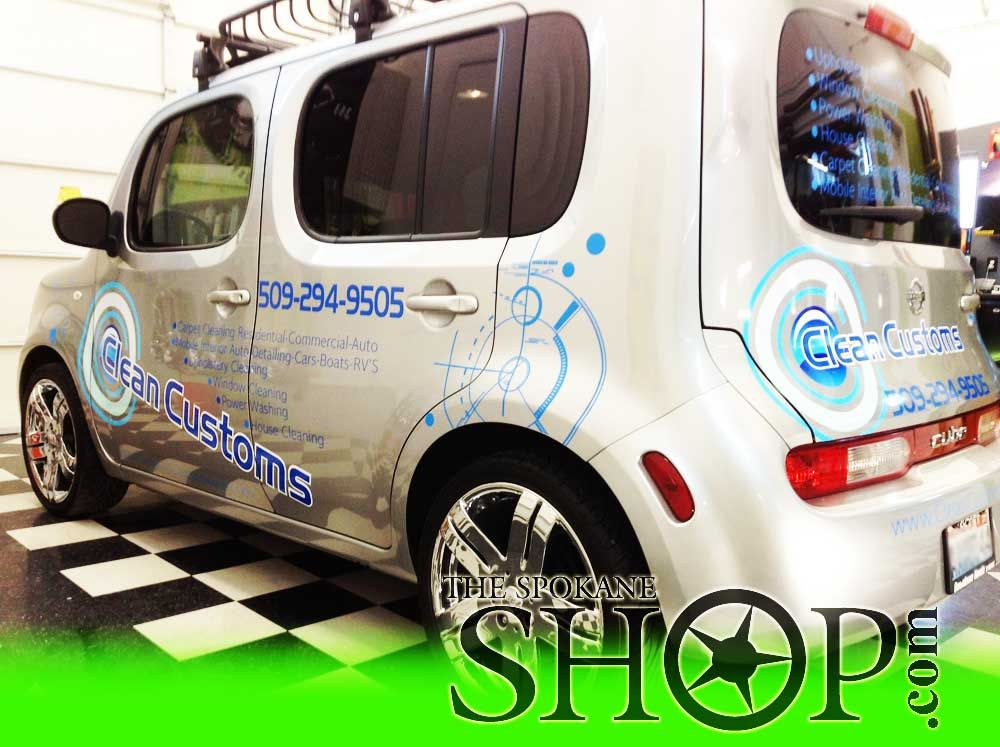 Custom Business Vehicle Wrap on a New Nissan Cube New