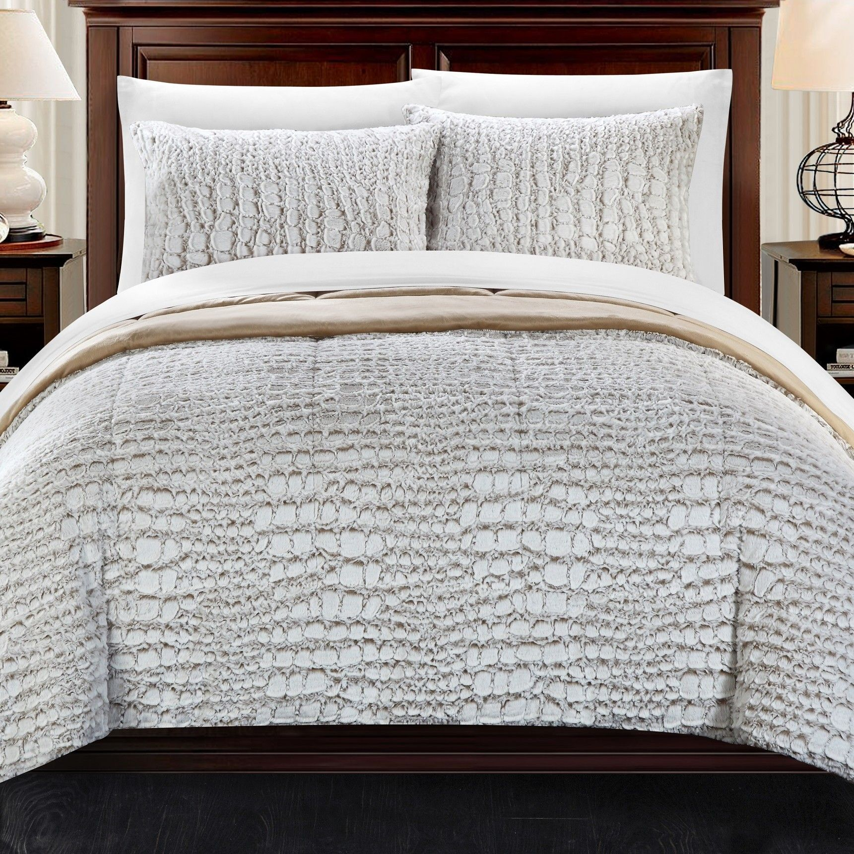 Alligator 3 Piece Queen Comforter Set