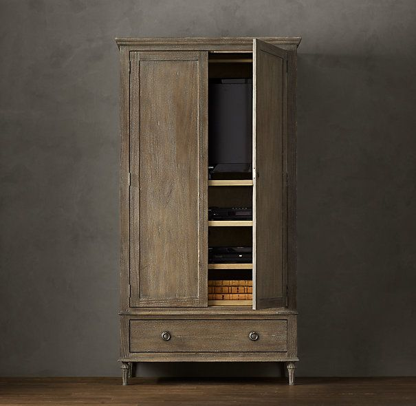 Maison Armoire  Restoration Hardware. Use An Armoire As A Media Cabinet. I  Love