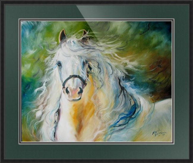 Cloud The White Andalusian By Marcia Baldwin Animal Canvas Abstract Canvas Painting Trademark Fine Art