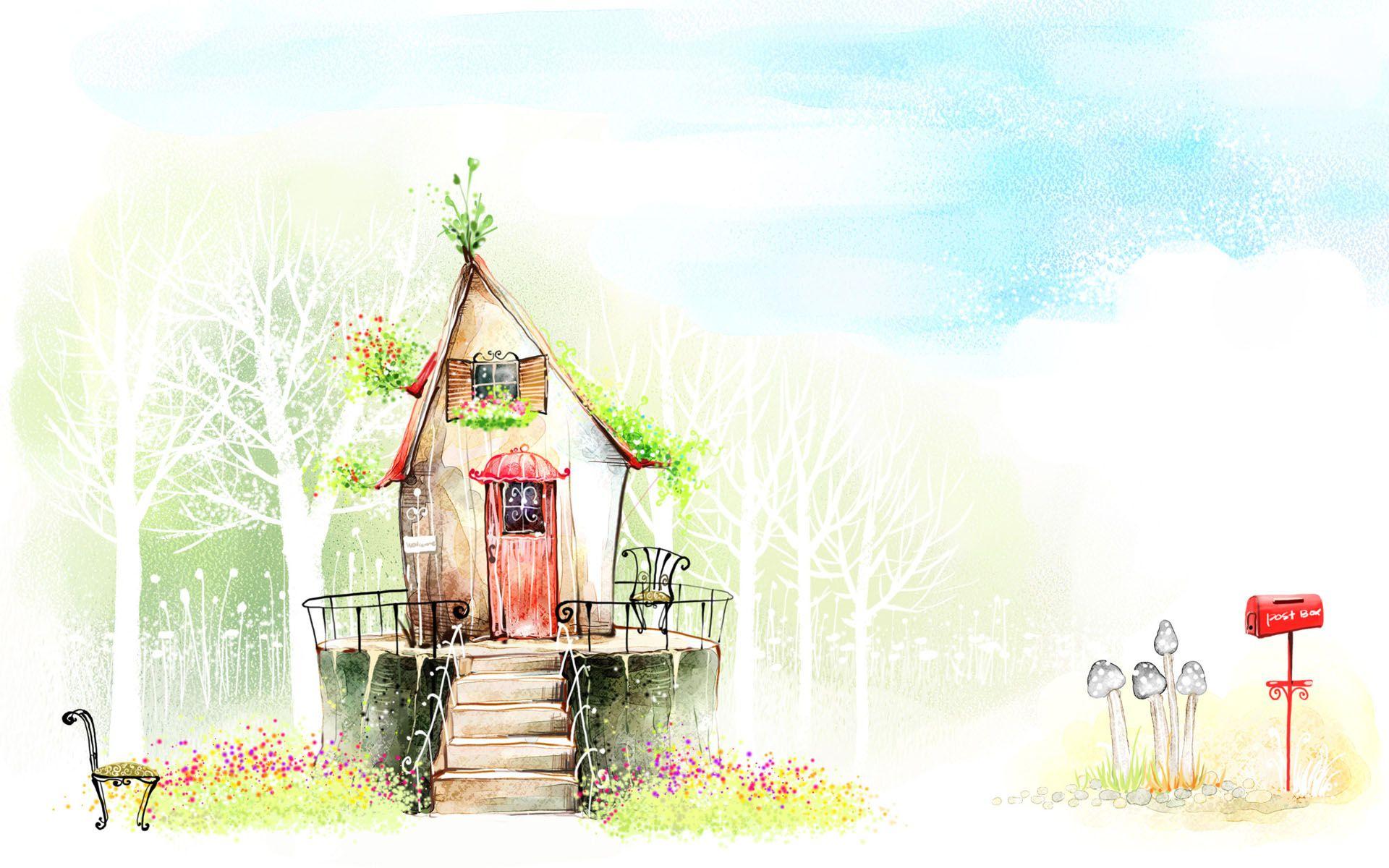 Красивые дома картинки детские