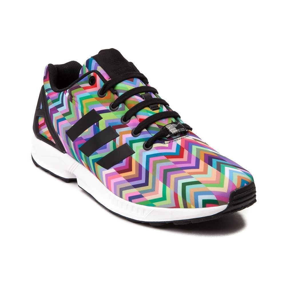 100% high quality great look cheap prices Details about BRAND NEW Adidas FLUX Multicolored CHEVRON Print ZX ...
