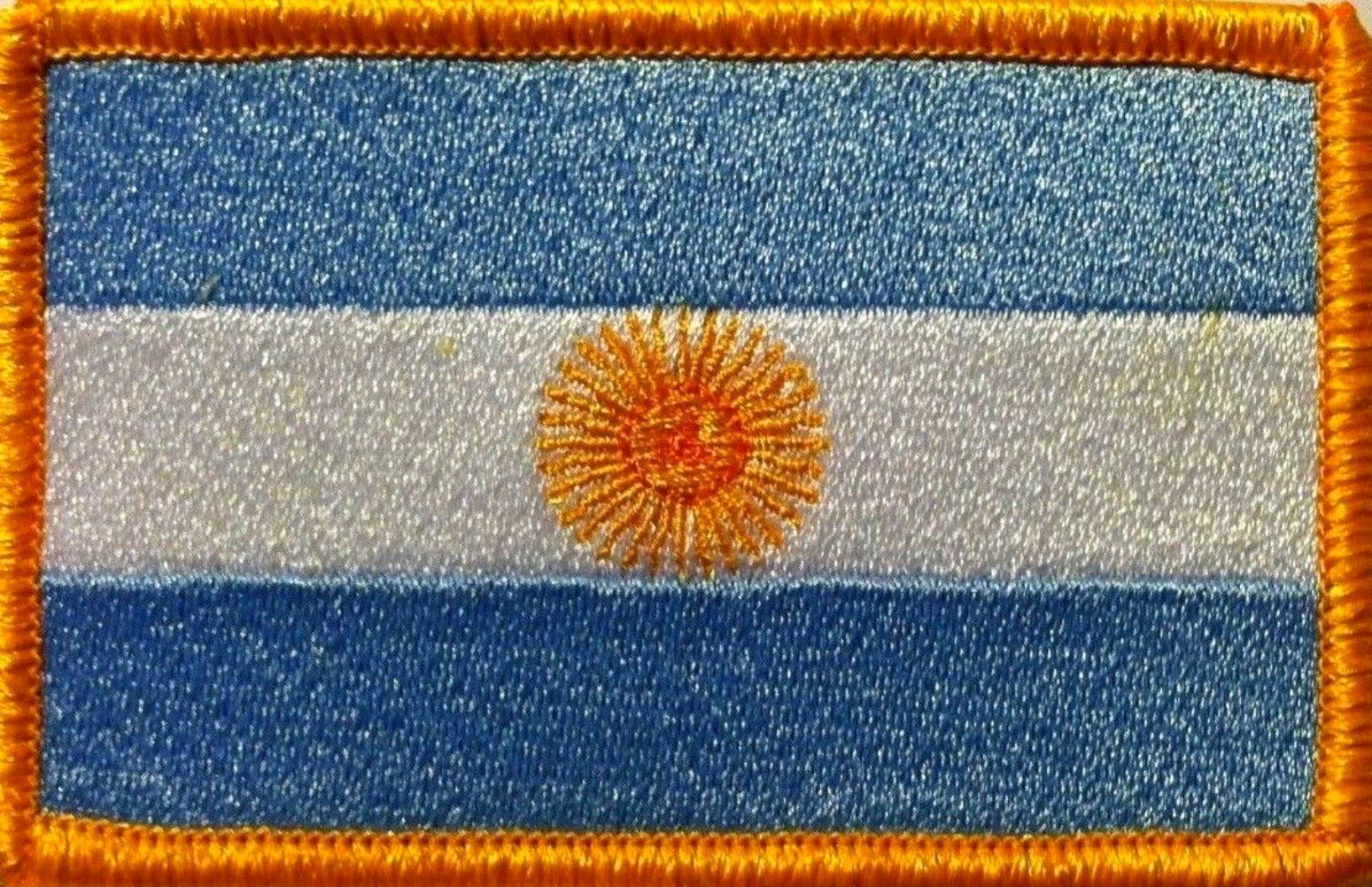 KIRIBATI Flag Embroidered Iron-On Patch Military Shoulder Emblem Gold Border