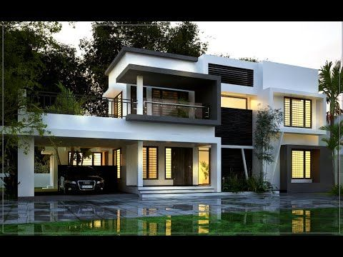 Beautiful Contemporary Style Residence 4 Bed Room Residence Video Kerala House Design Latest House Designs Bungalow House Design