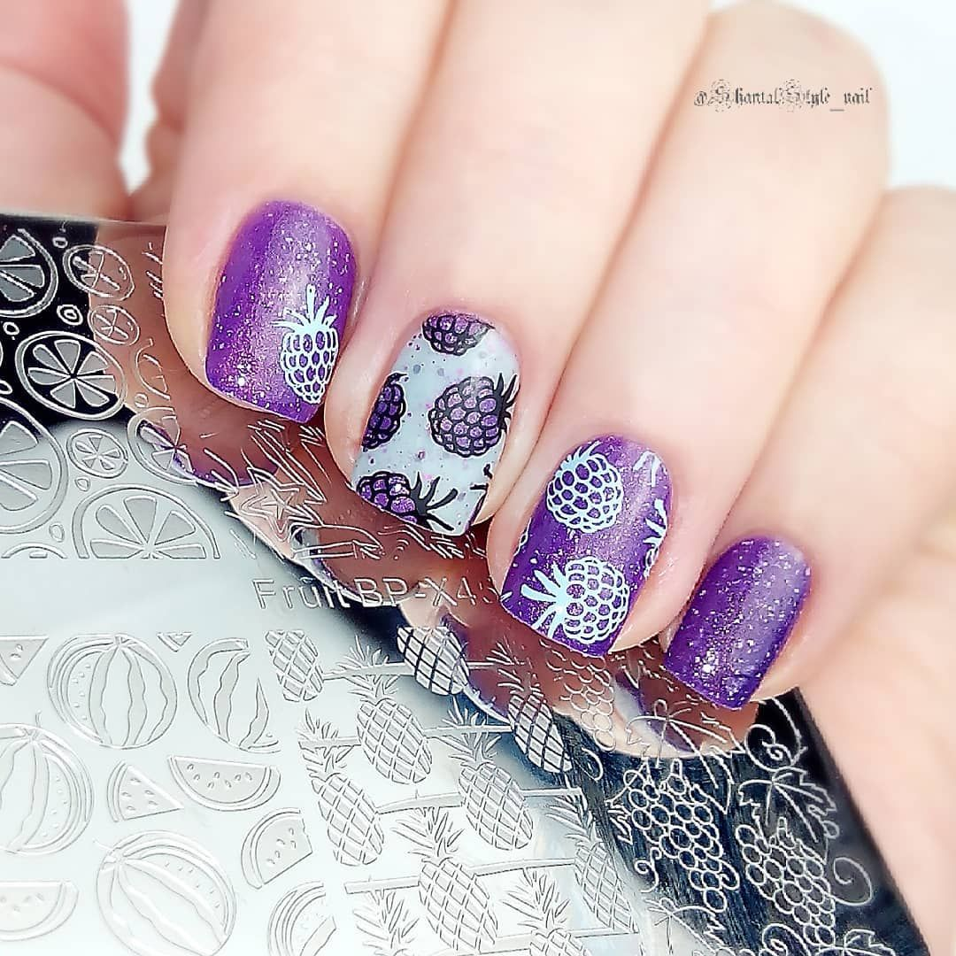 Lovely fruit stamping nail design, like it? More details shared in ...