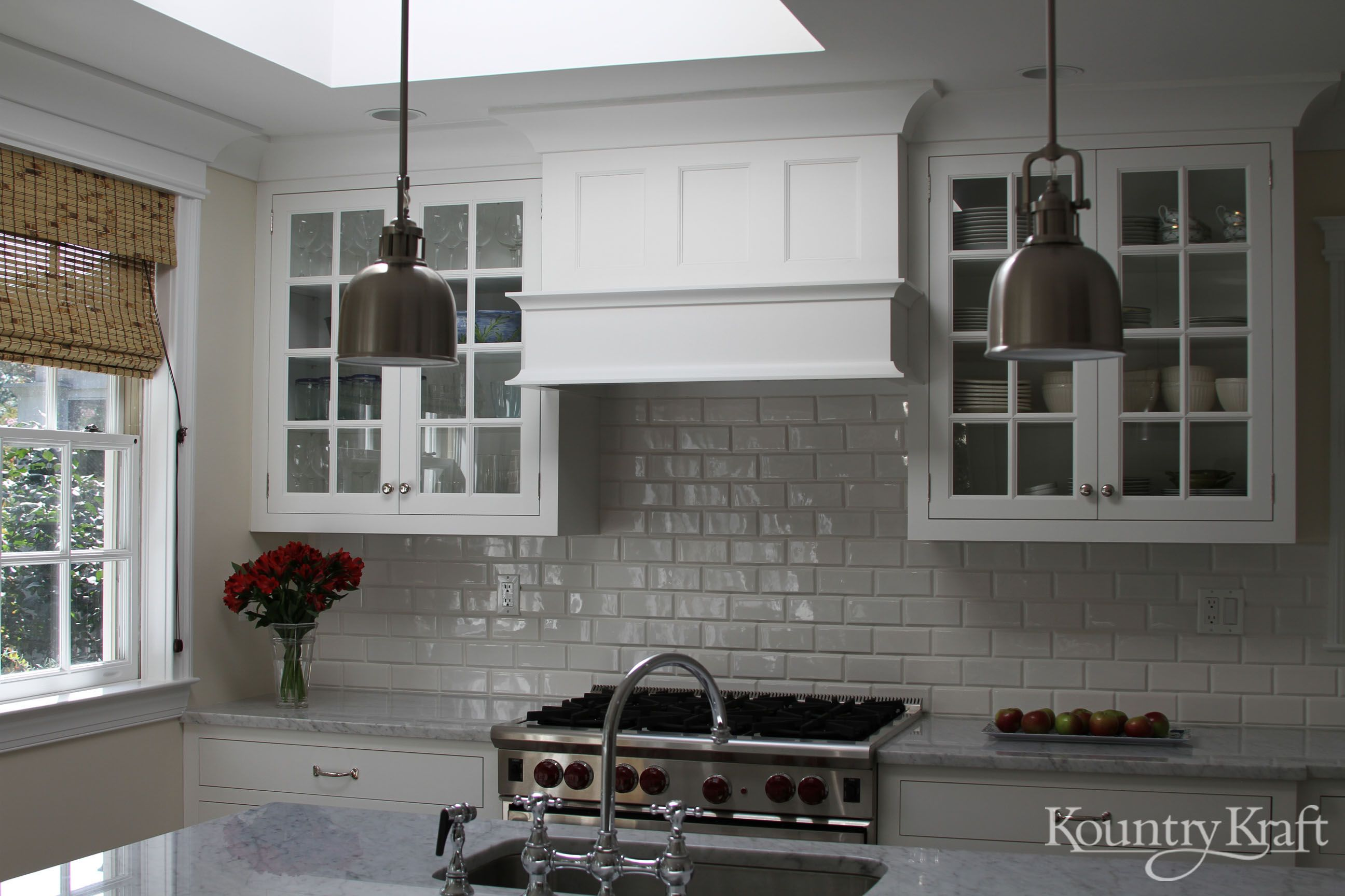 Custom Kitchen Cabinets Designed By Bradford Design LLC In Bethesda MD.  This Classic White Kitchens