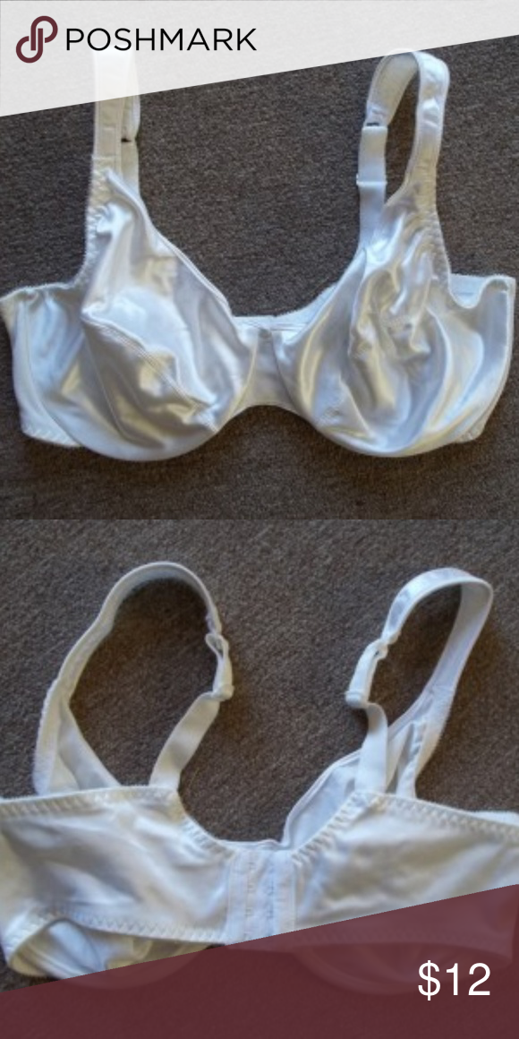 6ce9a62e48 Just My Size Satin Bra White 40DD New JUST MY SIZE SATIN BRA COLOR  WHITE
