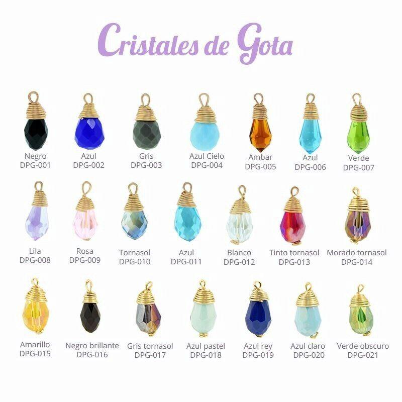 Cristales gota 1.5 cm de largo