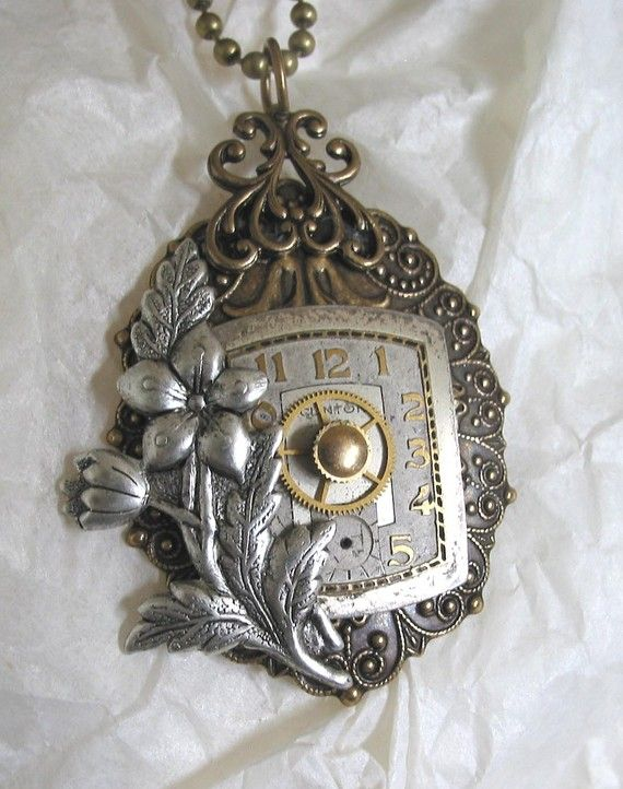 Vintage Watch Dial Steampunk Necklace