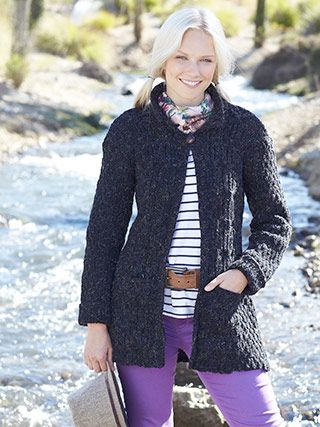 Design from Tweed Knits Book (479) - 14 aran cardigan and jacket ...