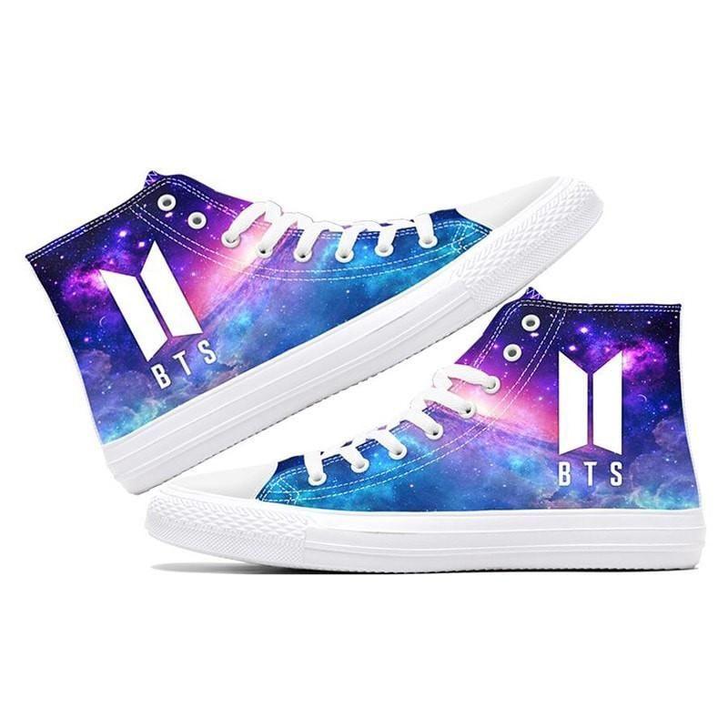 6941aeac1bf1 BTS Purple Galaxy Luminous Sneakers in 2019