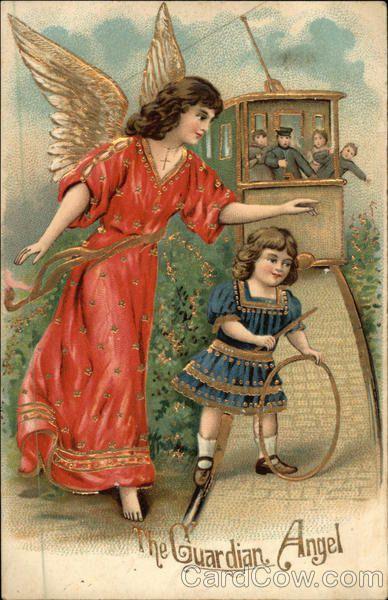 Ангел хранитель открытки старинные, картинки
