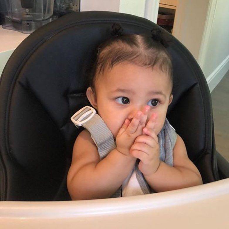"Kardashian Jenner Kids's Instagram post: ""Stormi 😭"