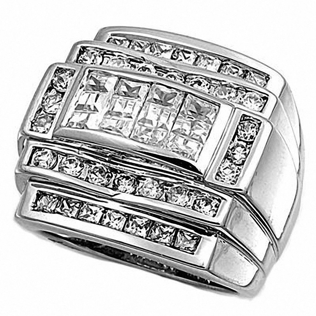 Silver CZ Ring Mens silver rings, Rings for men, Cubic
