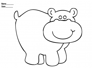 give a like for hippo coloring christmas printable activities