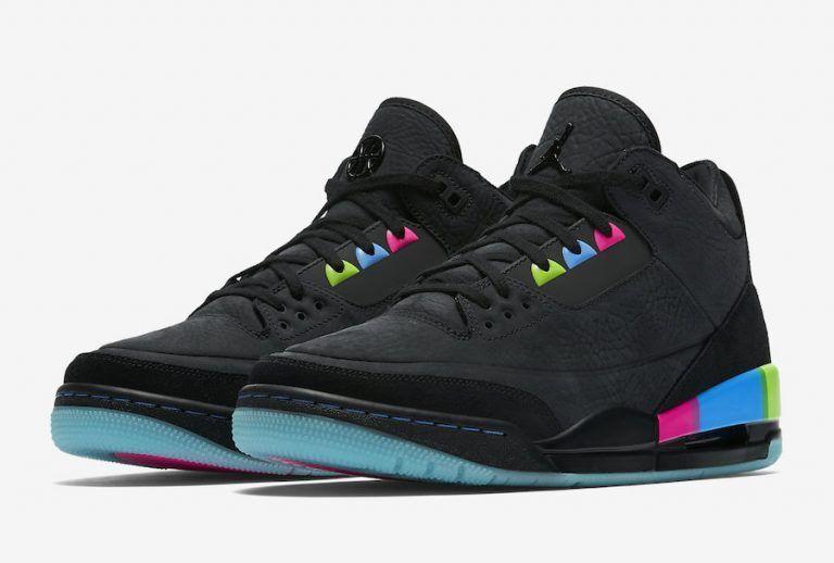New Mens Nike Air Jordan 3 Retro Quai54 2018 Black//Electric Green AT9195-001