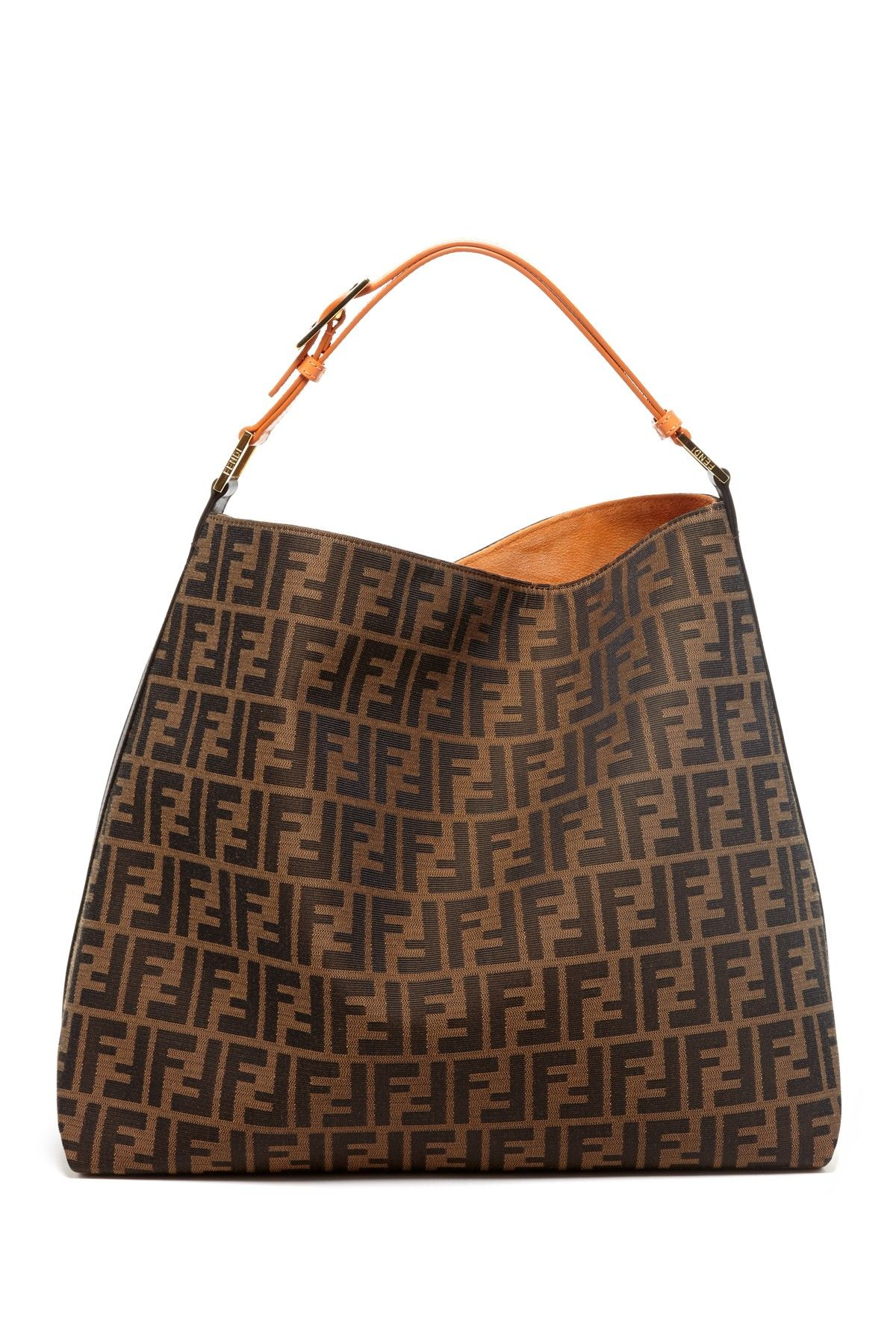 c8f6c72ea7 Fendi Logo Print Hob Hobo Handbags