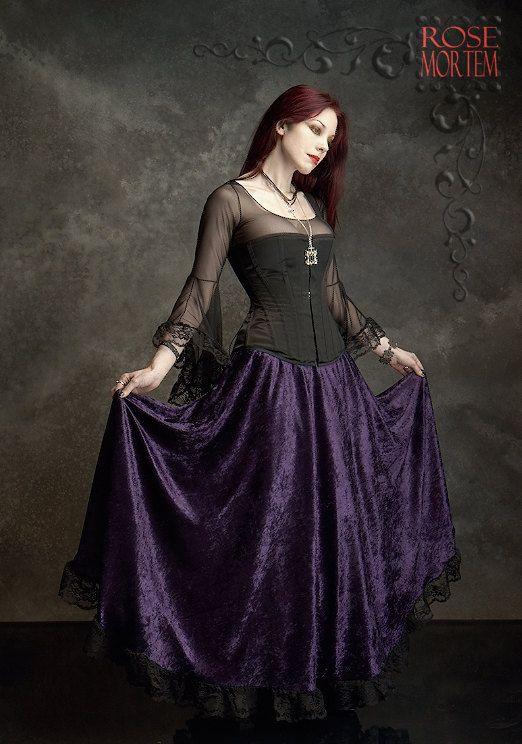 Liseron floor length long velvet skirt custom elegant