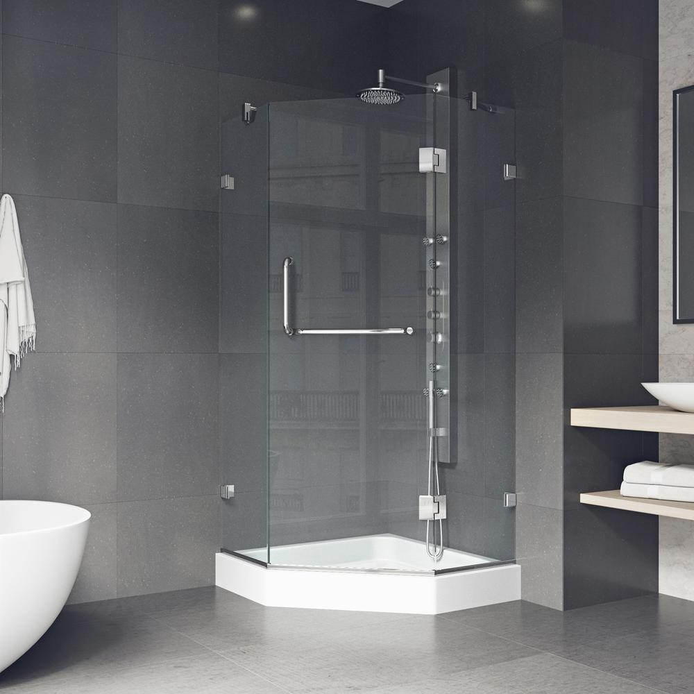 Vigo Piedmont 36 125 In X 78 75 In Frameless Neo Angle Shower