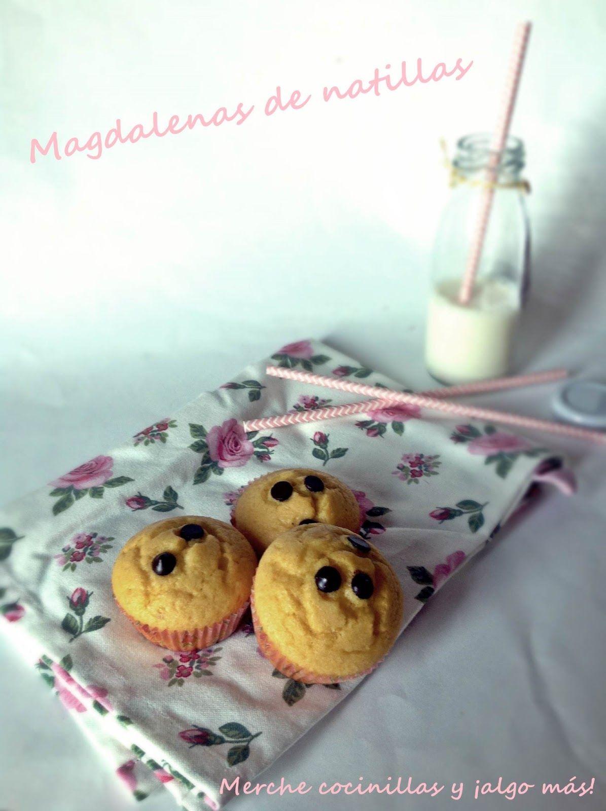 Merche cocinillas y ahora también mamá: Magdalenas de Natillas y chocolate (con thermomix y de manera tradicional)