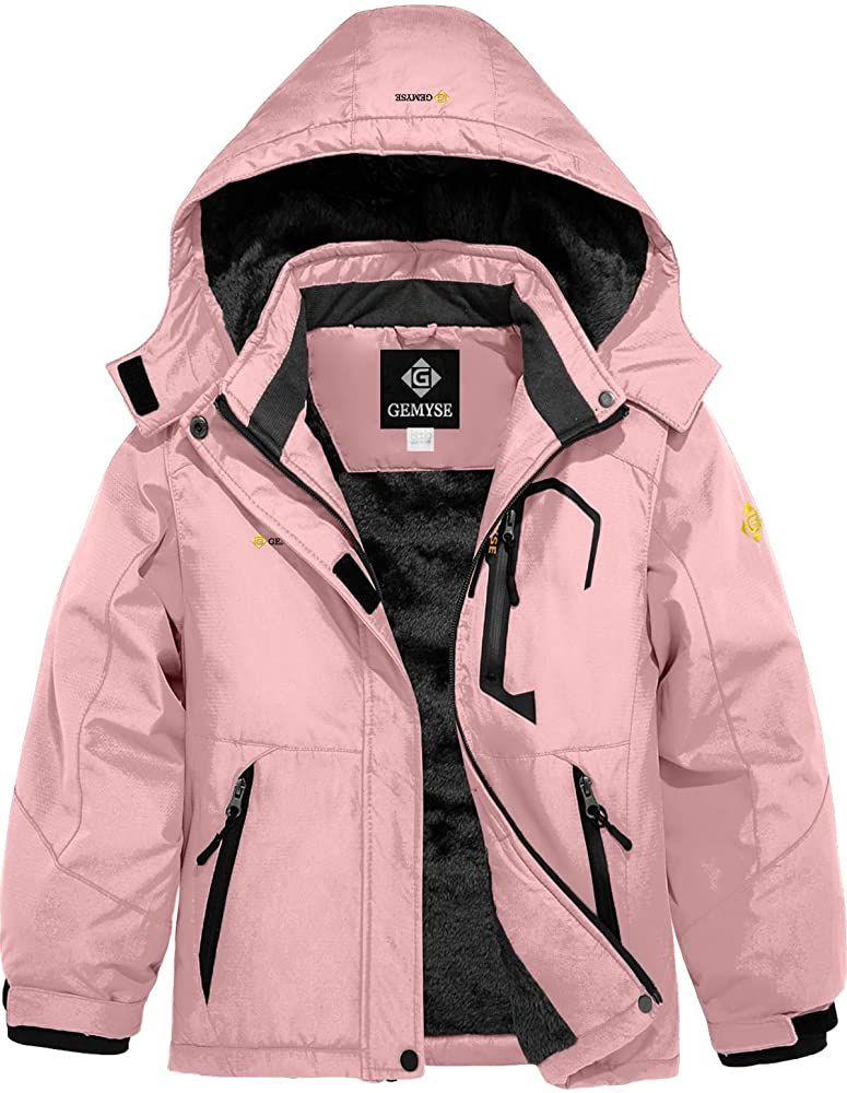 GEMYSE Womens Waterproof Ski Snow Jacket Insulated Winter Windproof Fleece Jacket with Hood