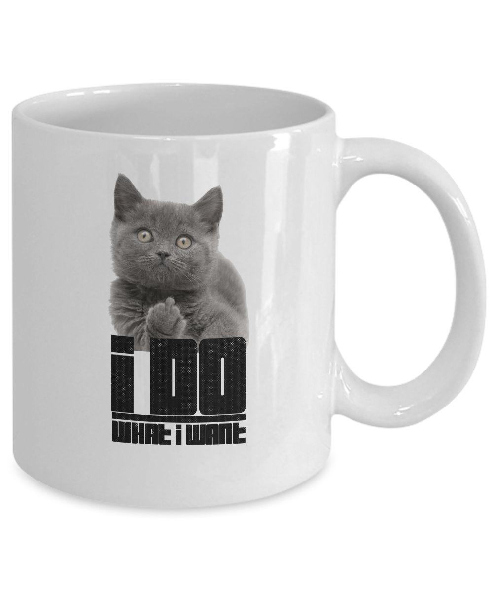 I Do What I Want Cat Mug Cats Pinterest