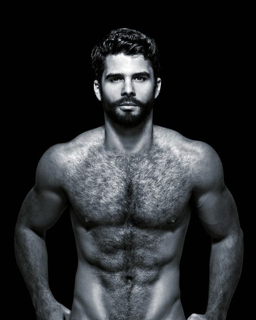 Idea Sexy men with hairy chest theme