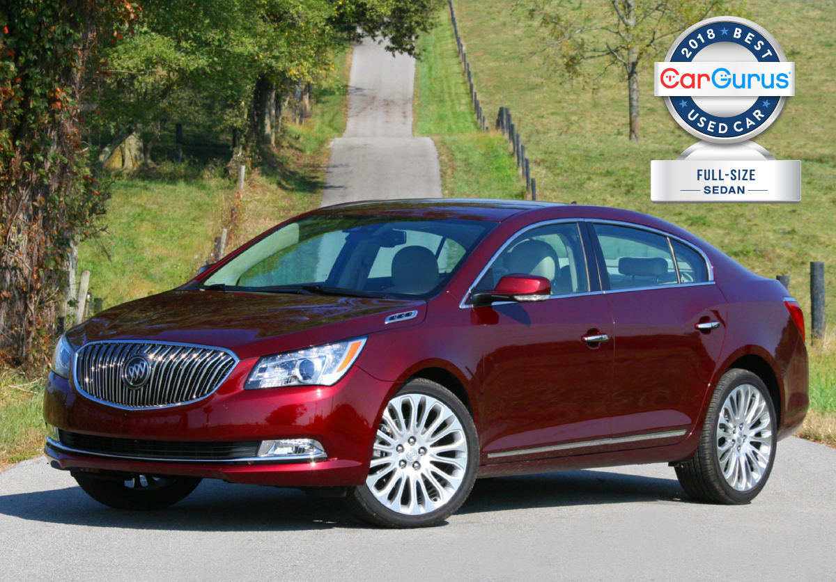 Cargurus 2018 Used Car Awards For Best Full Size Sedan Goes To The Buick Lacrosse Buick Lacrosse Full Size Sedan Car