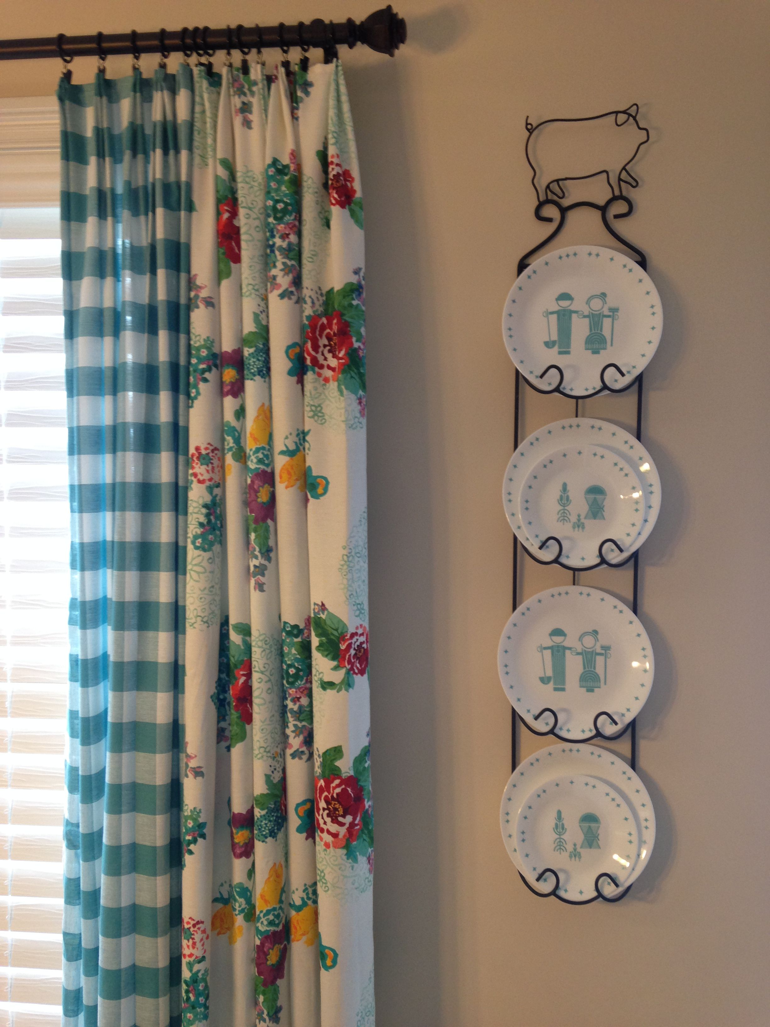 Pioneer Woman Kitchen Curtains Using Tablecloths