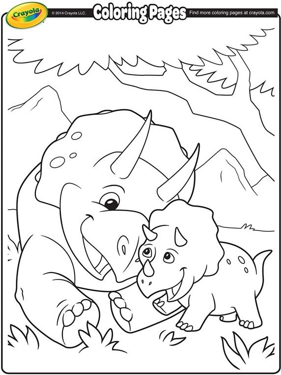 Triceratops on crayola.com (With images) | Crayola ...