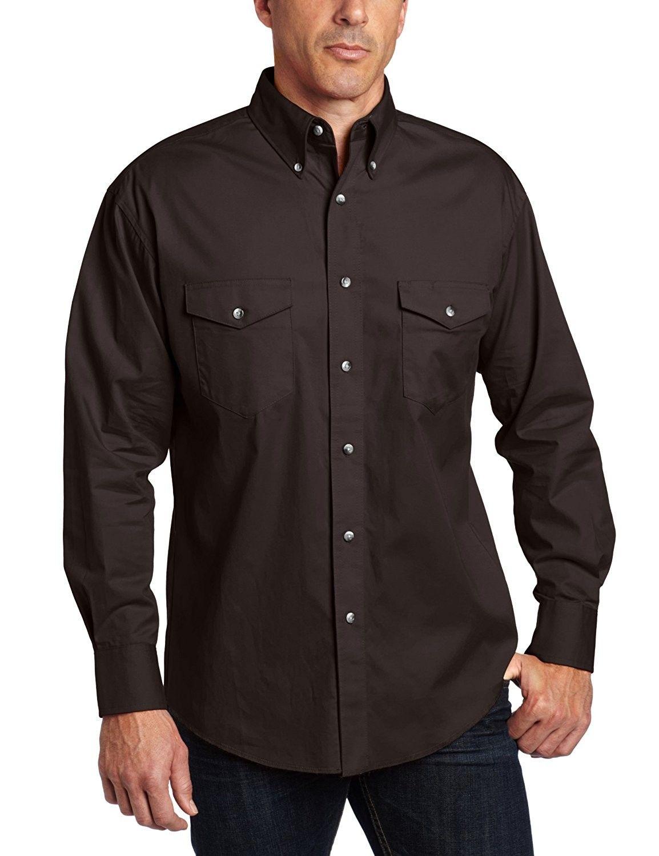 771d872adb91cb Men s Painted Desert Basic Work Western Shirt - Black - CQ116EJI3Y3 ...