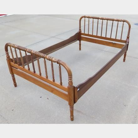 Antique Jenny Lind Style Bed Kings Auction Appraisal Bed
