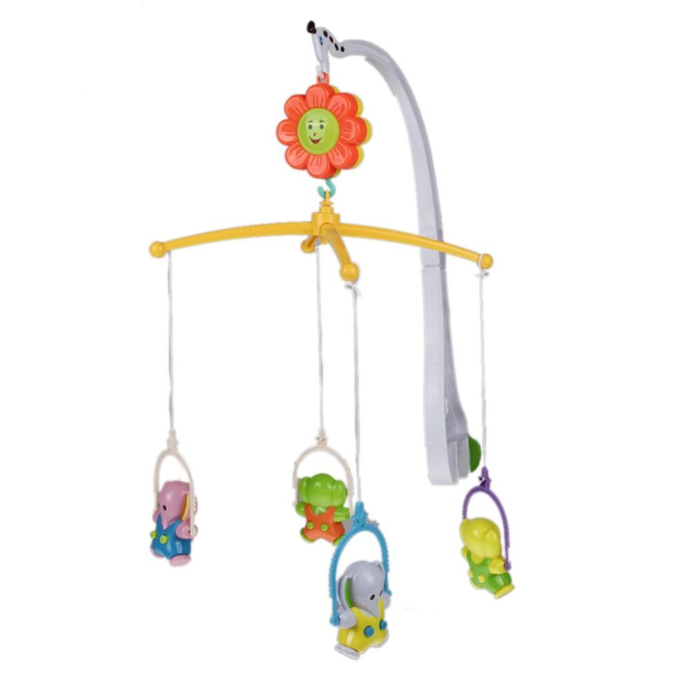 Baby bed mobile - Baby Hanging Bed Rattle Toy Plastic Hand Bed Crib Musical Rotate Bell Ring Rattle Mobile Toy