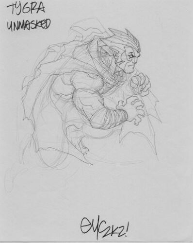 ED MCGUINNESS TYGRA THUNDERCATS CHARACTER DESIGN ORIGINAL ART BATMAN SUPERMAN  | eBay