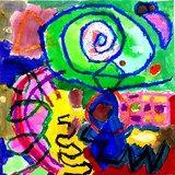 Artsonia Art Exhibit :: Kindergarten Kandinsky Paintings (Thoden) via @Suzanne Tiedemann