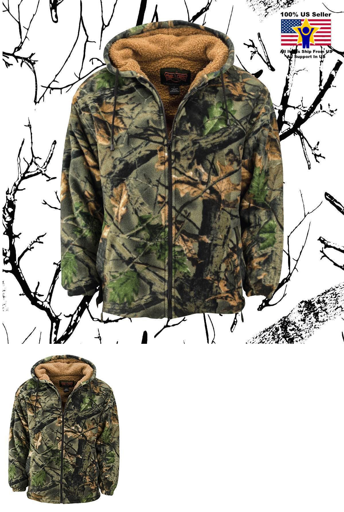 70e3e215406f6 Outerwear 155195: Trailcrest Men S Fleece Hoodie Camo Green Camouflage  Jacket Outdoor Hunt Sport -> BUY IT NOW ONLY: $59.95 on #eBay #outerwear  #trailcrest ...