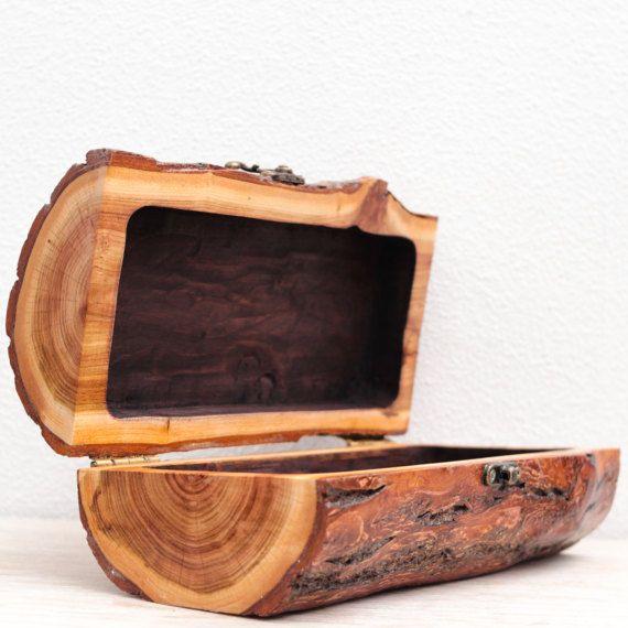 Wooden Jewellery Box Lock Large Treasure Box Shabby Chic Box