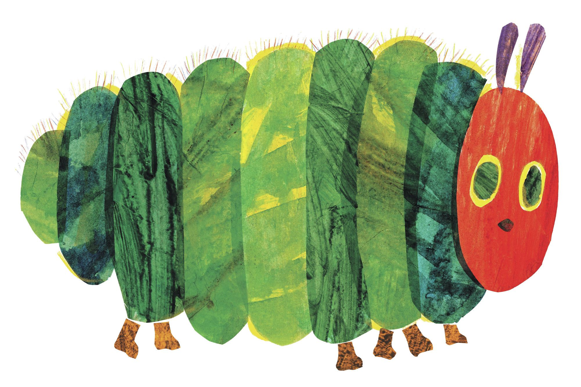 the very hungry caterpillar character caterpillar fat by eric carle painting print on wrapped canvas [ 2000 x 1333 Pixel ]