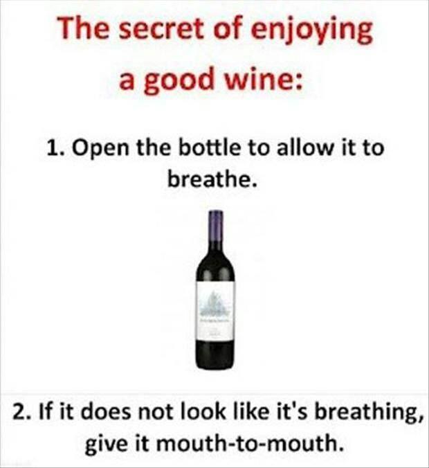 The secret to enjoying your wine.