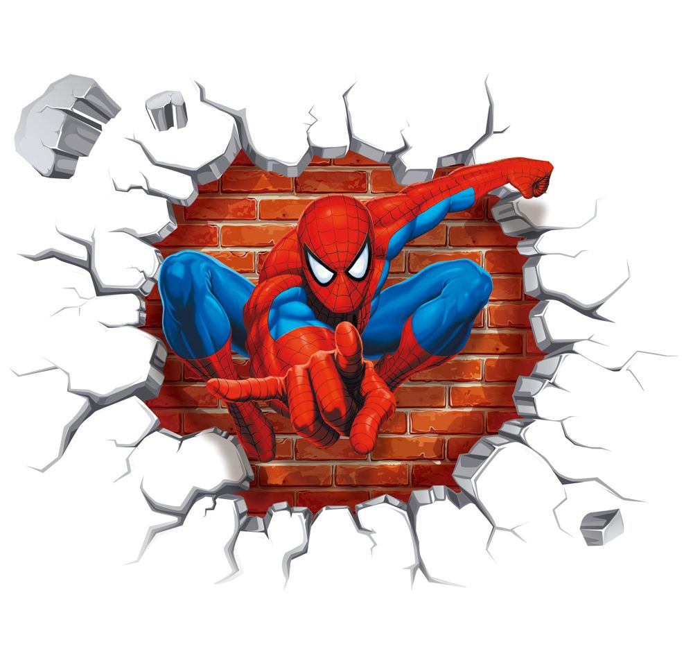 Best New Arrival Wall Sticker 3D Effect Super Hero Spider Man 640 x 480