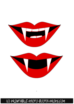 Free Printable Vampire Mouth Photo Booth Prop Hobonichi